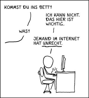 xkcd Comic: Die Pflicht ruft