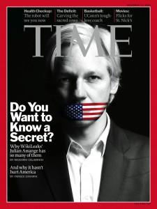 Julian Assange auf dem Cover des Time Magazins vom 13. Dezember 2010