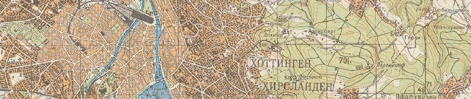 Russische Karte, 1971, Zürich