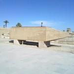 Spitze des umgefallenen Hatschepsut Obelisken im Tempel von Karnak