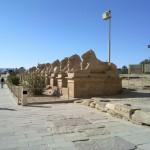 Sphingen-Allee beim Tempel von Karnak