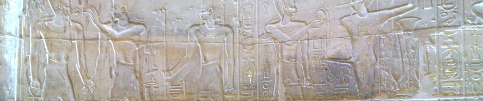 Reliefs auf dem Allerheiligsten Alexanders
