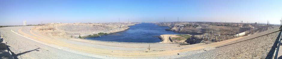 Panorama des Assuan Hochdammes